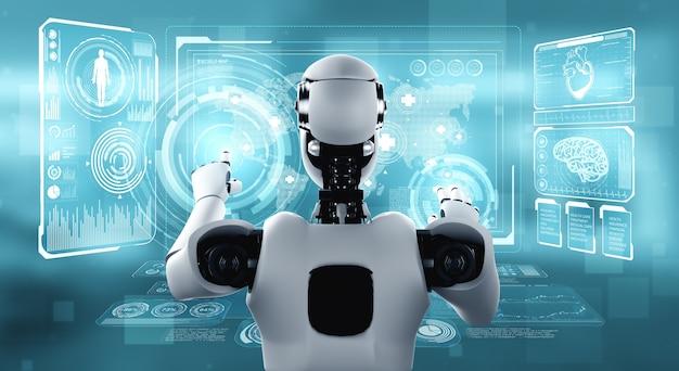 Toekomstige medische technologie bestuurd door ai-robot