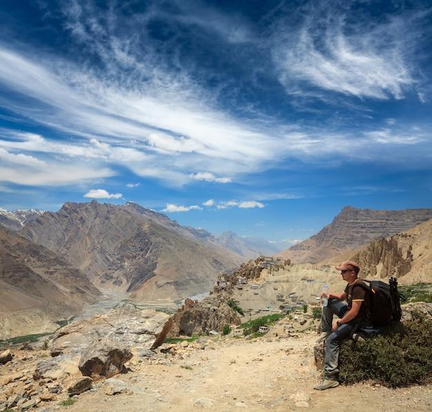 Toerist in de himalaya