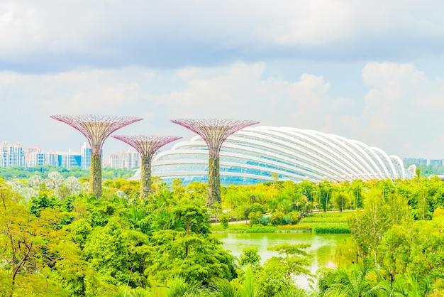 Toerist tuinen opbouwen skyline