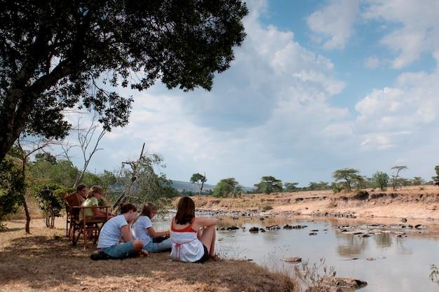 Toeristen in kenia