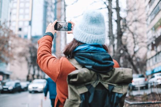 Toeristen maken foto's