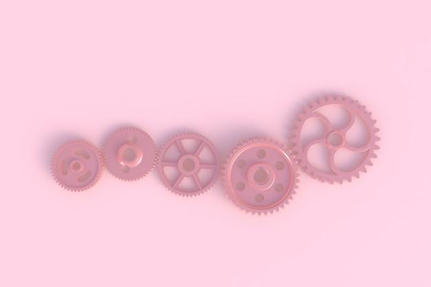 Toestel abstracte minimale roze achtergrond, het 3d teruggeven
