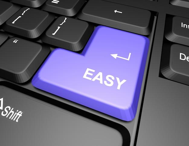 Toetsenbord met gemakkelijke knop