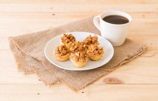 Toffee cupcake met koffie