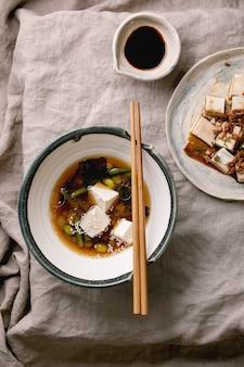 Tofu miso-soep