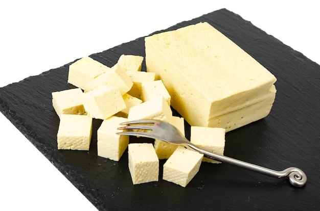 Tofu - sojamelkeiwitproduct. studio foto.