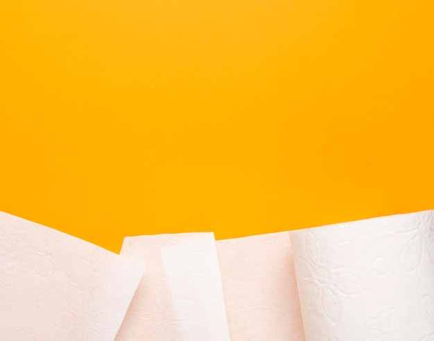Toiletpapier met kopie-ruimte, weefsel