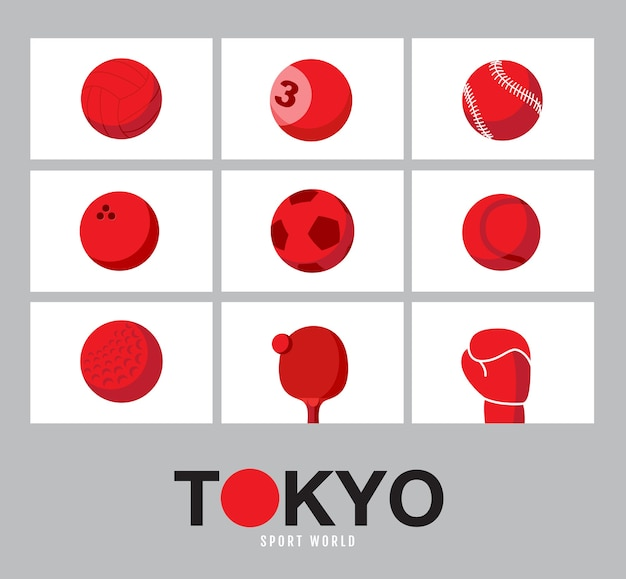 Tokyo, japan vlag concept, sportuitrusting achtergrond, wereldspel.