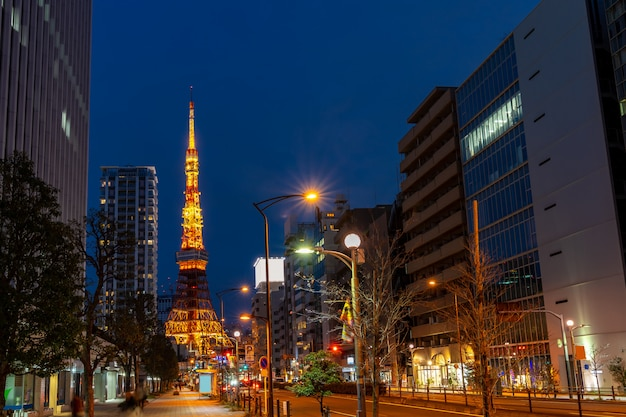 Tokyo tower-zonsondergang