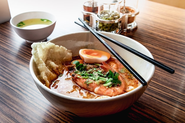 Tom yum goong noodle