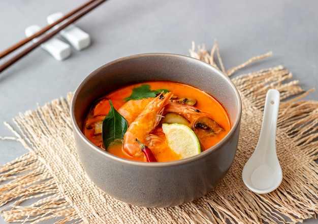 Tom yum soup. thaise keuken. gezond eten. recepten.