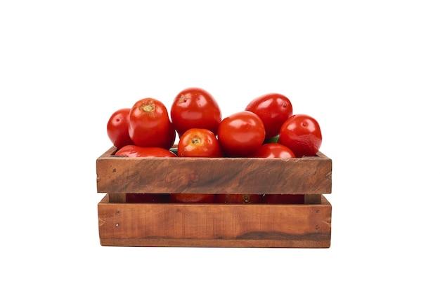Tomaten op een wit.