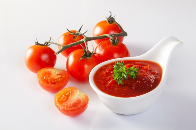 Tomatensaus, gaspacho, ketchup
