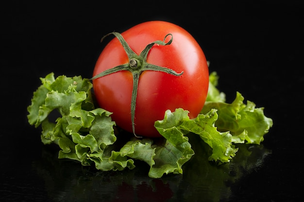 Tomatoe en sla, minimalisme concept