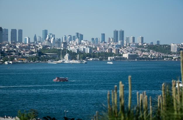 Toneelpanorama van istanboel, turkije
