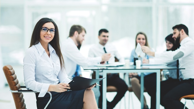 Toonaangevende advocaat van het bedrijf op, zakelijke bijeenkomsten zakelijke partners