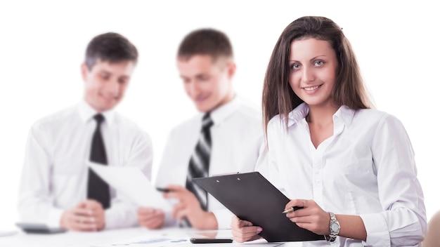 Toonaangevende advocaat van het bedrijf, zakelijke bijeenkomsten zakelijke partners.