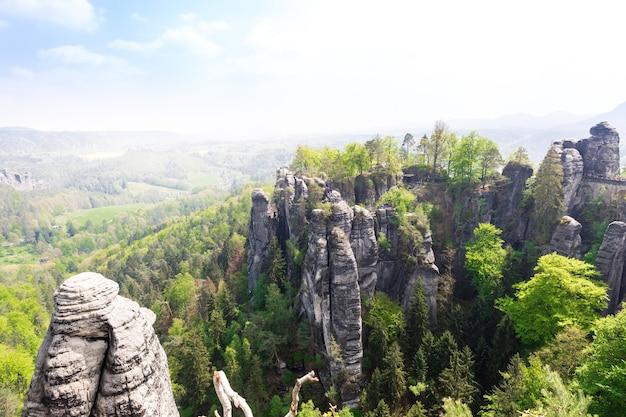 Top van de rotsachtige bergen, de aard van europa