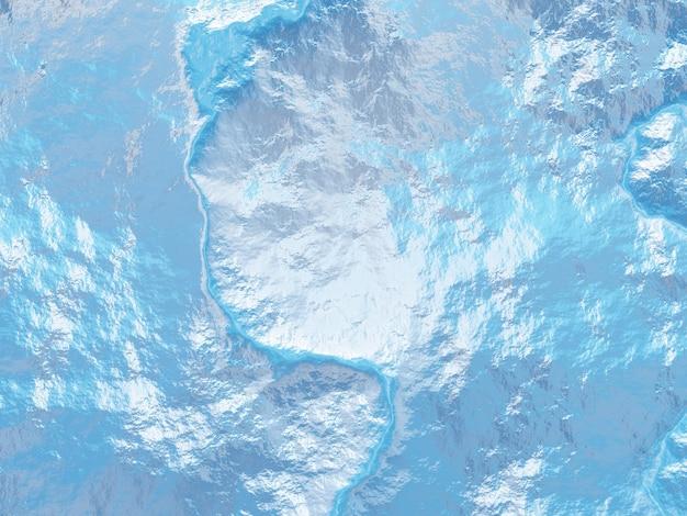 Topografisch terrein in 3d bovenaanzicht