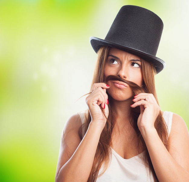 Topper fake hoed spelen humor