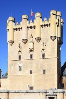 Toren van kasteel van segovia (alcazar), spanje