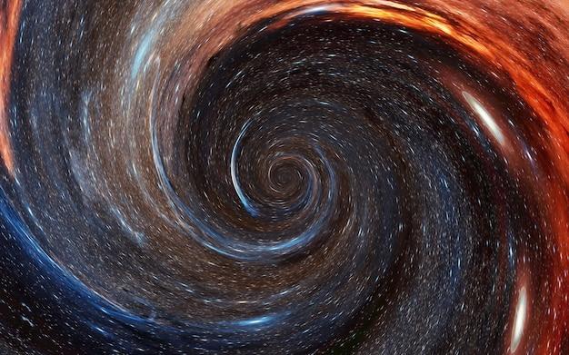 Tornado van sterren zwart gat universum melkweg wormgat, parallelle wereld, materie absorptie, universele chaos nevel van sterren abstracte kosmos achtergrond