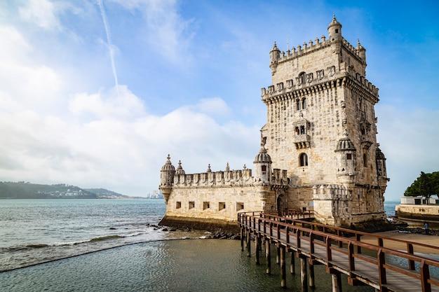 Torre de belem in portugal, 12 november 2019