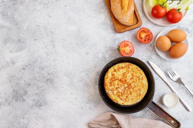 Tortilla, spaanse omelet