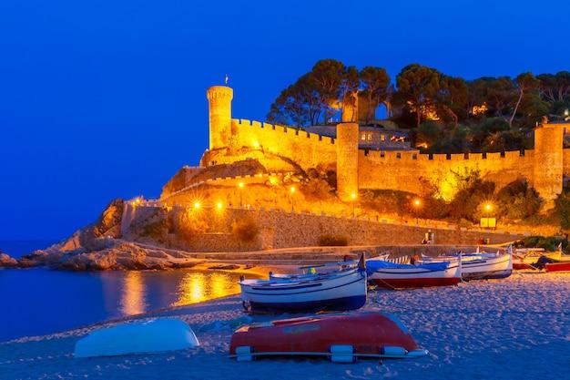 Tossa de mar aan de costa brava, catalunya, spanje