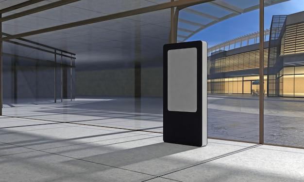 Totem en kiosk digital signage 3d weergegeven