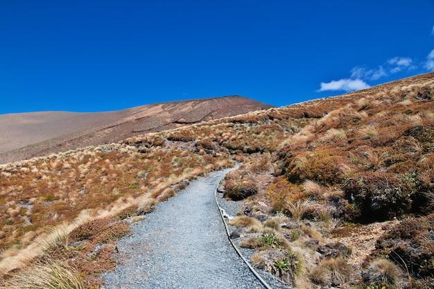 Track in tongariro national park, nieuw-zeeland