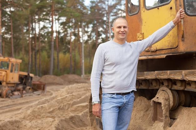 Tractor operator op de werkplek