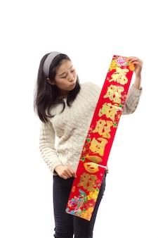 Traditie jaar gelukkig volwassen meisje