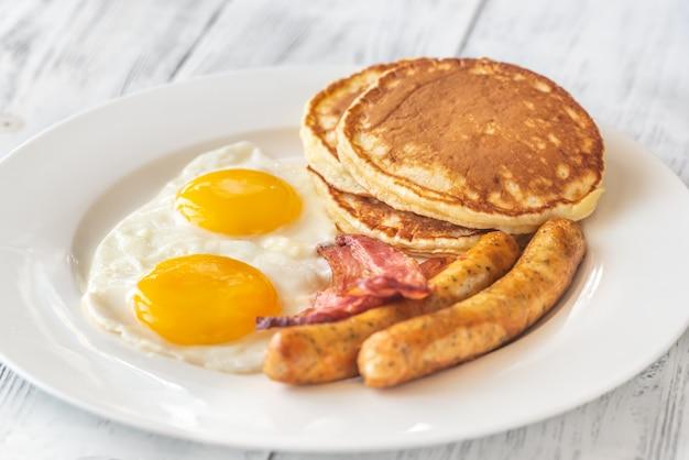 Traditioneel amerikaans ontbijt