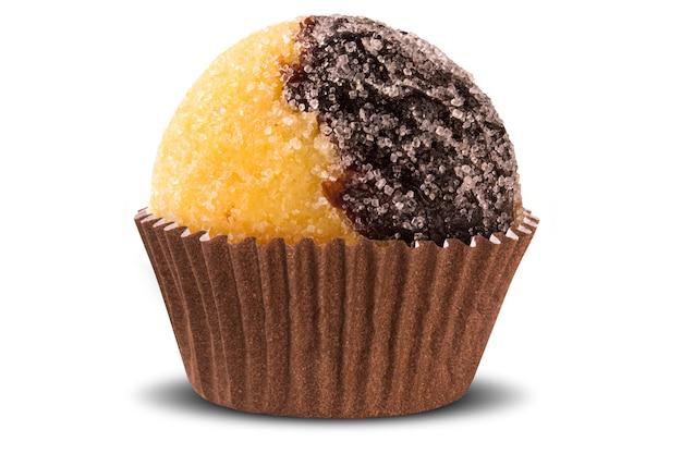 Traditioneel braziliaans snoepje dat op witte oppervlakte wordt geïsoleerd olho de sogra.
