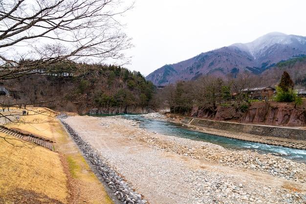 Traditioneel en historisch japans dorp shirakawago