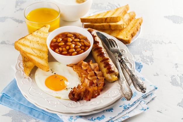 Traditioneel engels ontbijt