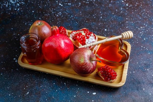 Traditioneel eten van joods nieuwjaar - rosh hashana.
