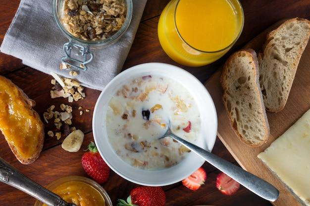 Traditioneel europees ontbijt