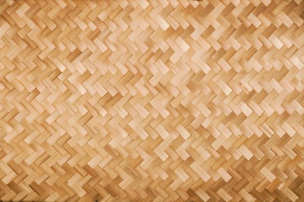 Traditioneel handwerk weven thaise stijl patroon natuur achtergrond textuur rieten oppervlak voor meubelmateriaal