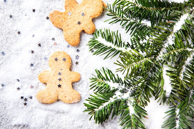 Traditioneel kerstmisbaksel. nieuwjaarconcept