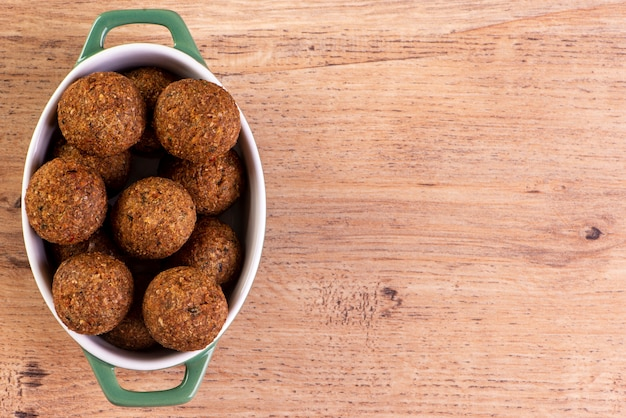 Traditionele arabische snack kibbeh