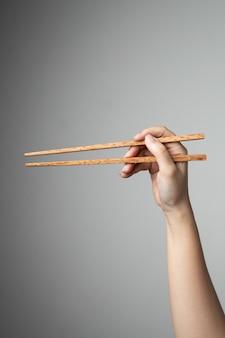 Traditionele aziatische stijl van het handeetstokje de aziatische chinese voedselstijl