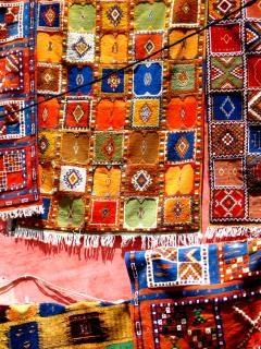 Traditionele berber tapijten