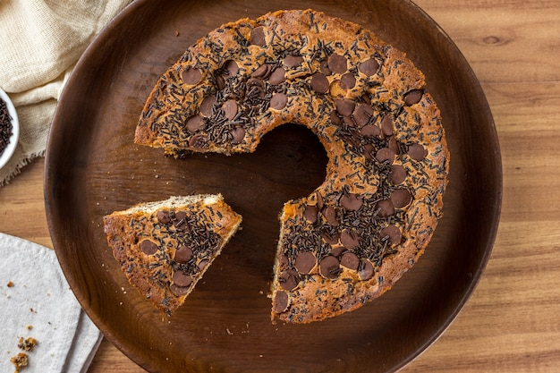 Traditionele braziliaanse cake genaamd bolo formigueiro