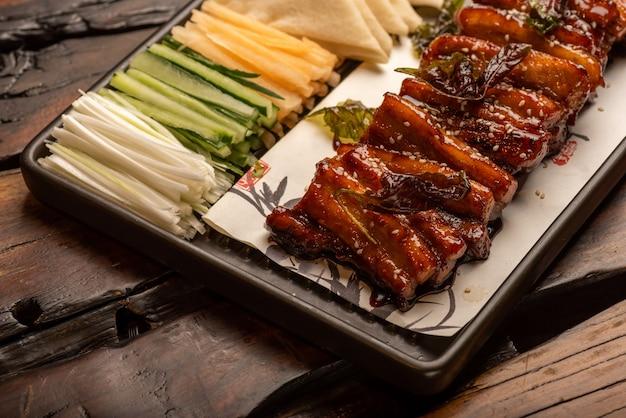 Traditionele chinese banketgerechten, gestoofd vlees