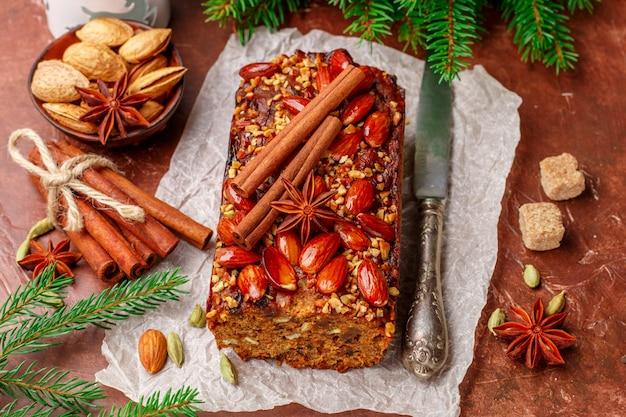 Traditionele chrsitmas-fruitcake