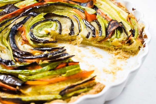 Traditionele franse ratatouille.