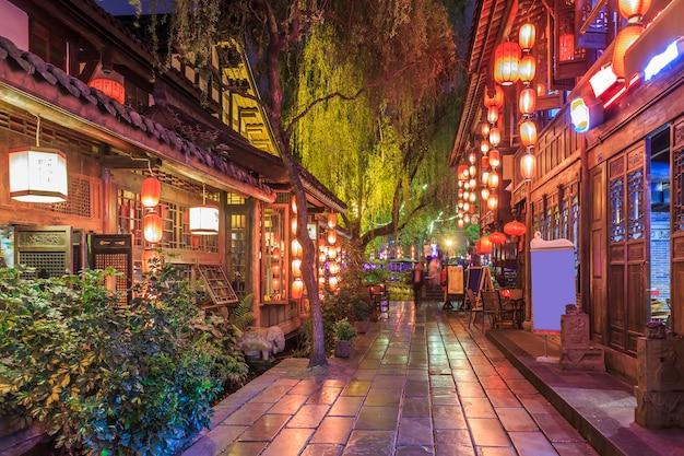 Traditionele houten voetganger retro chinees