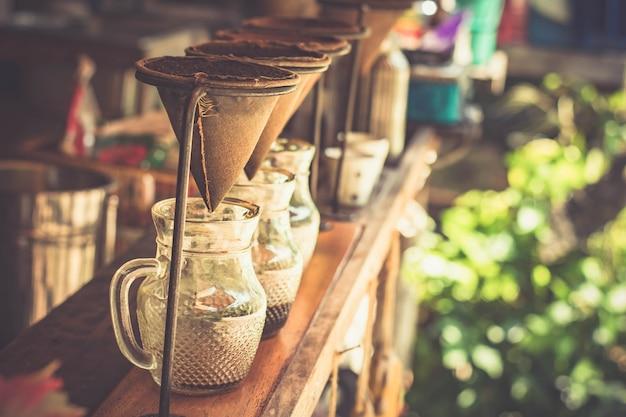 Traditionele infuuskoffie.